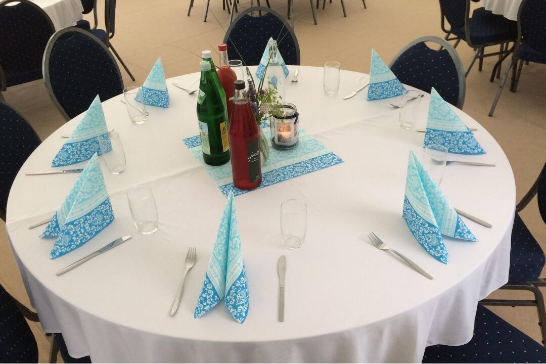 Zelt und Mehr - Tisch rund